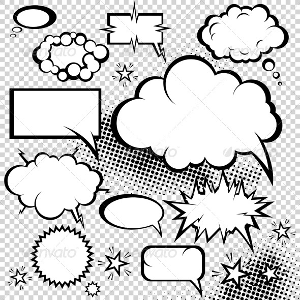 Comic bubbles collection - Decorative Symbols Decorative