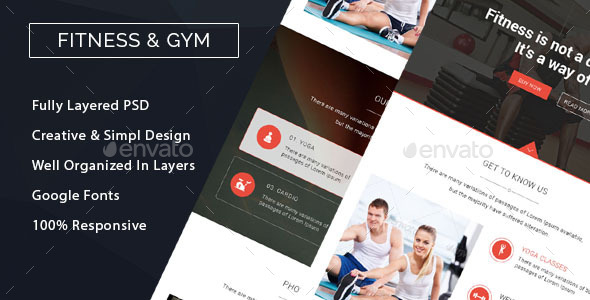 GraphicRiver Fitness & Gym Marketing Email Template 10913365