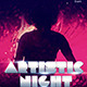 Artistic Night Party Flyer - GraphicRiver Item for Sale