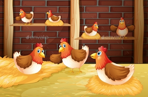GraphicRiver The Seven Hens 10913385