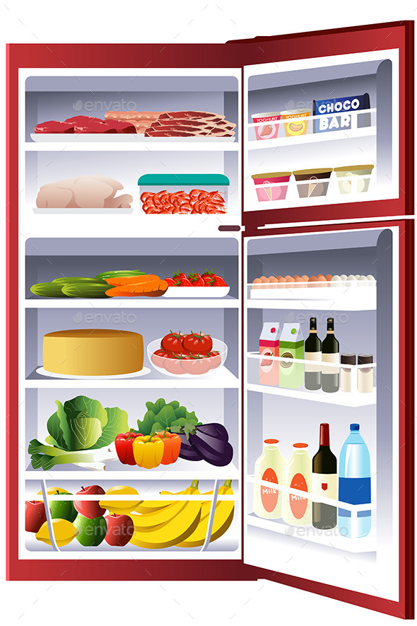 GraphicRiver Inside of a Refrigerator 10913538