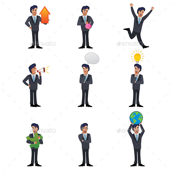 GraphicRiver Businessman Icons 10913544