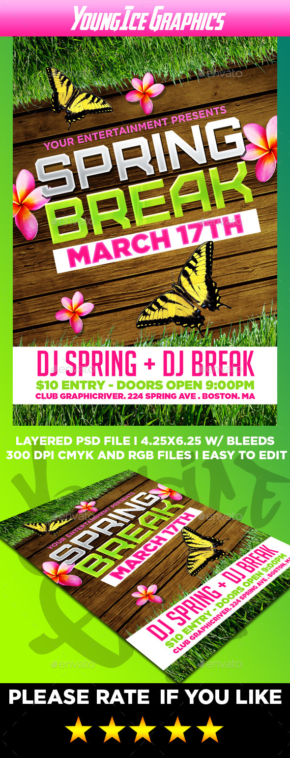 GraphicRiver Spring Break Flyer Template 10913593