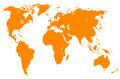 orange world map, isolated - PhotoDune Item for Sale