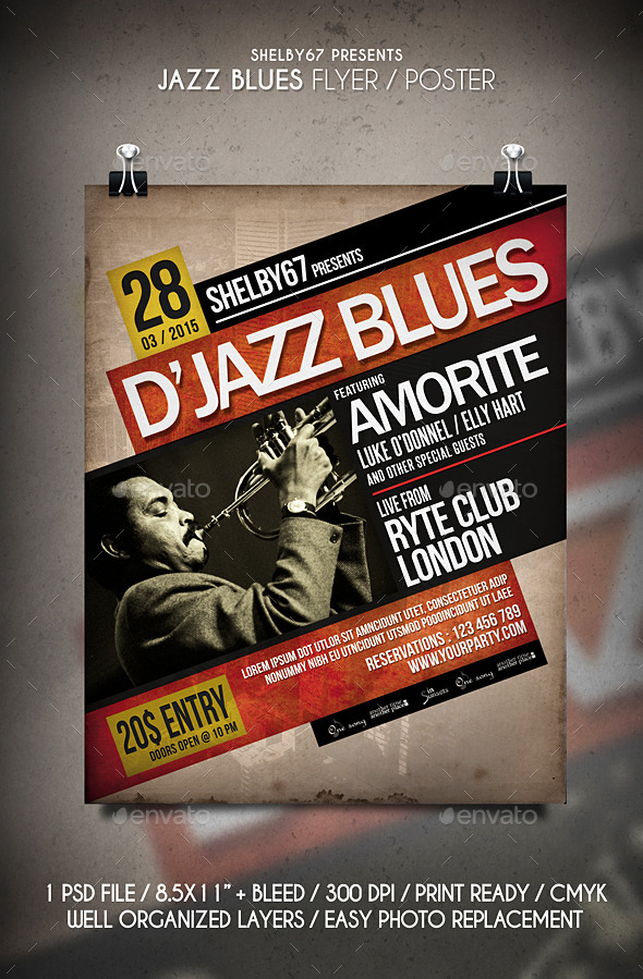 GraphicRiver Jazz Blues Flyer Poster 10913912