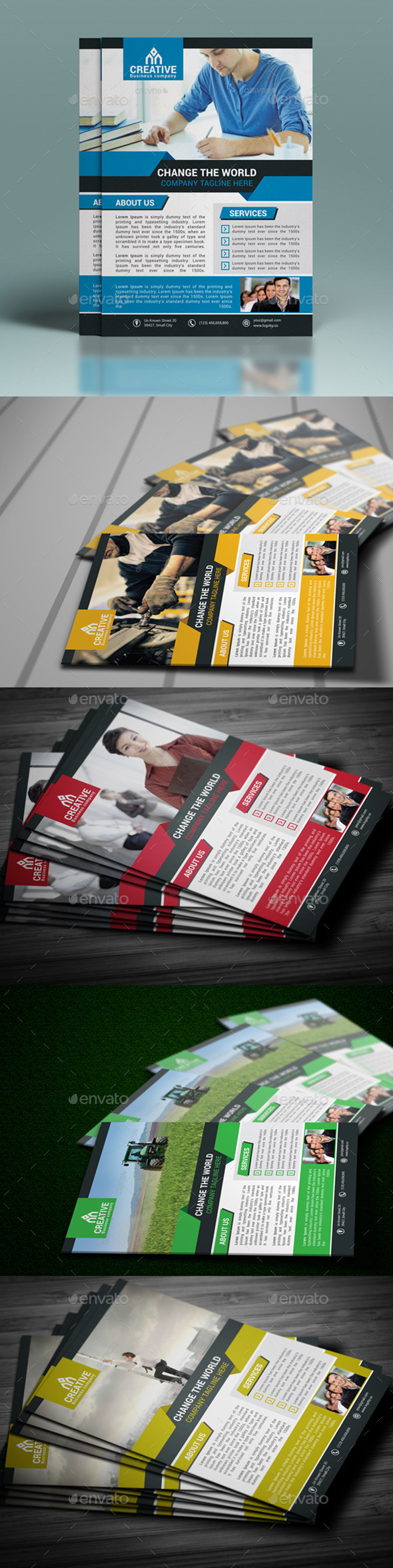 GraphicRiver Corporate Flyer Template 10913975
