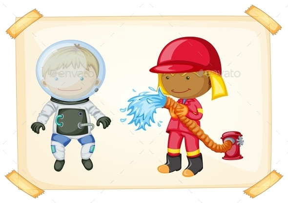 GraphicRiver Astronaut and Firefighter 10914002