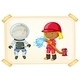 Astronaut and Firefighter - GraphicRiver Item for Sale