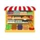 Supermarket. Food on Shelves - GraphicRiver Item for Sale
