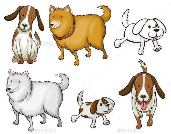 GraphicRiver Different Dogs 10914135