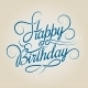 Happy Birthday Hand Drawn Lettering - GraphicRiver Item for Sale