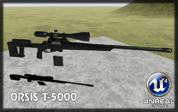 3DOcean Sniper rifle 10856561