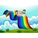Family Above the Rainbow - GraphicRiver Item for Sale