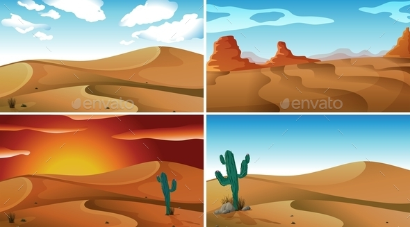GraphicRiver Deserts 10914354