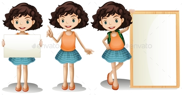 GraphicRiver Girl and Sign 10914444