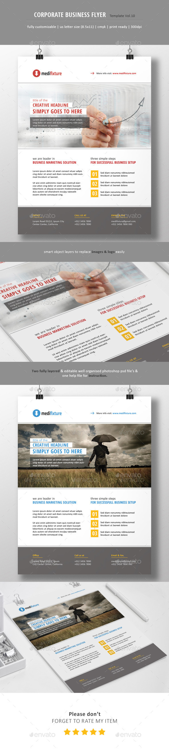 GraphicRiver Corporate Business Flyer Vol.10 10914496