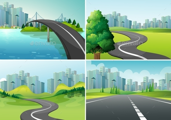 GraphicRiver Roads 10914499