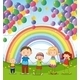 Happy Family Under Floating Balloons - GraphicRiver Item for Sale