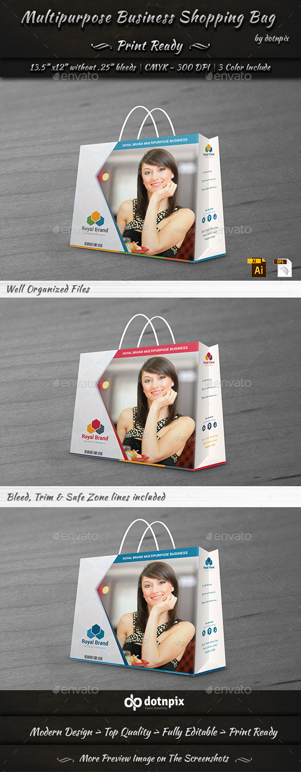 GraphicRiver Multipurpose Business Shopping Bag 10914517