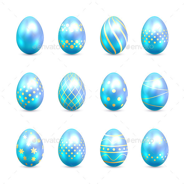GraphicRiver Blue Easter Eggs 10914531