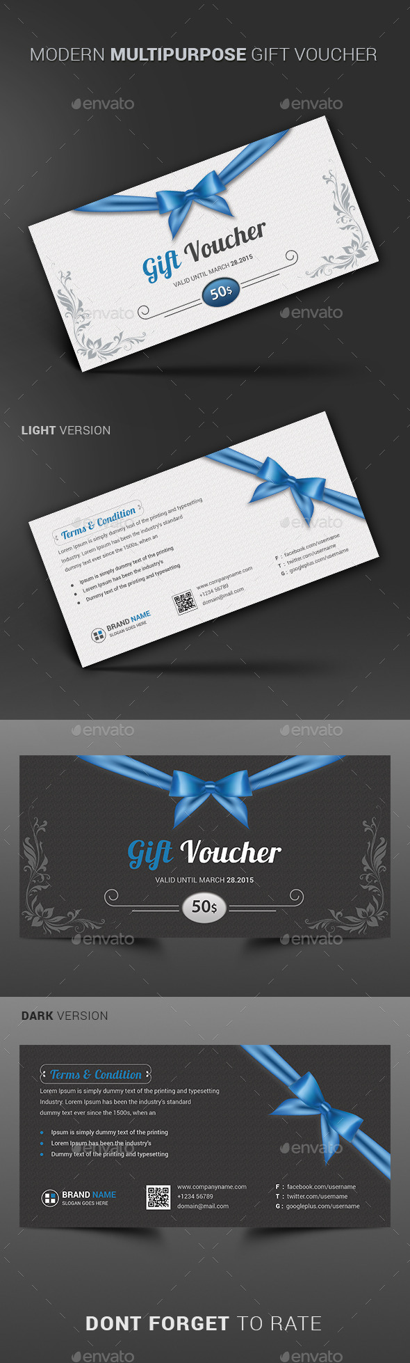 GraphicRiver Modern Multipurpose Gift Voucher 10914583