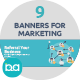 Flat Concept Banners for Marketing