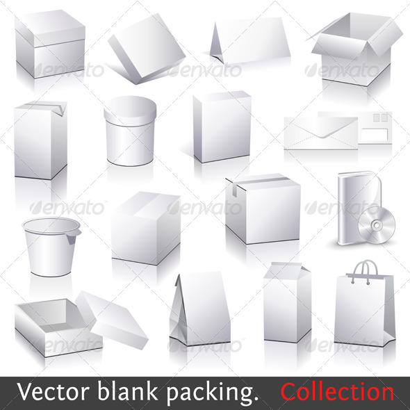 GraphicRiver Vector blank packing collection 135572