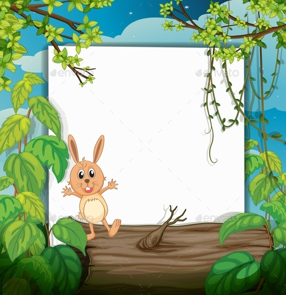 GraphicRiver Rabbit on a Trunk 10914642