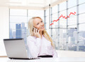 smiling businesswoman calling on smartphone - PhotoDune Item for Sale