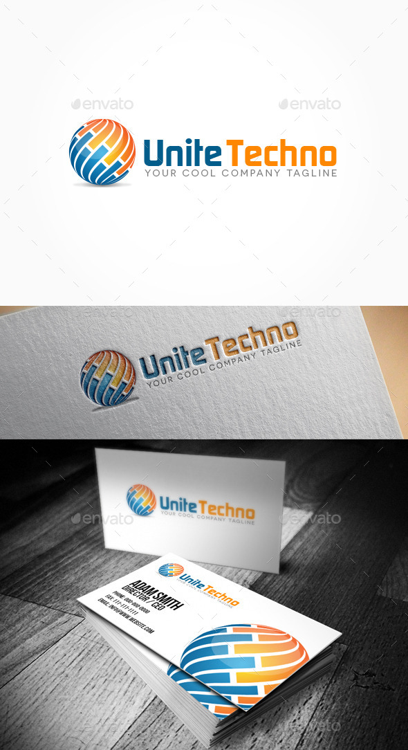 GraphicRiver Unite Techno Logo 10914693