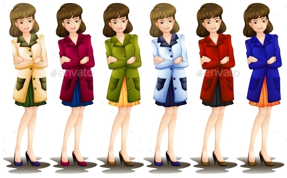 GraphicRiver Female in Different Shades of a Blazer 10914853