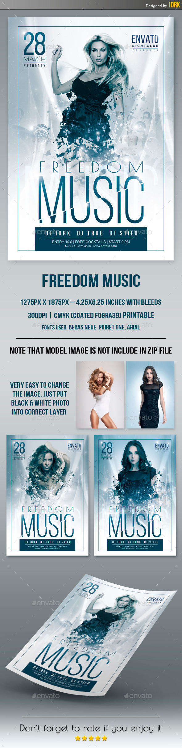GraphicRiver Freedom Music Flyer 10914855