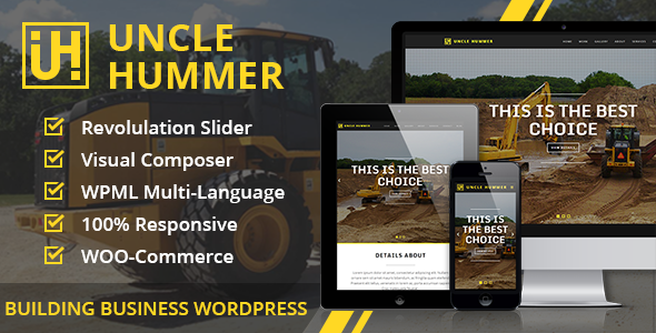 Uncle Hummer - Responsive WordPress Building Theme