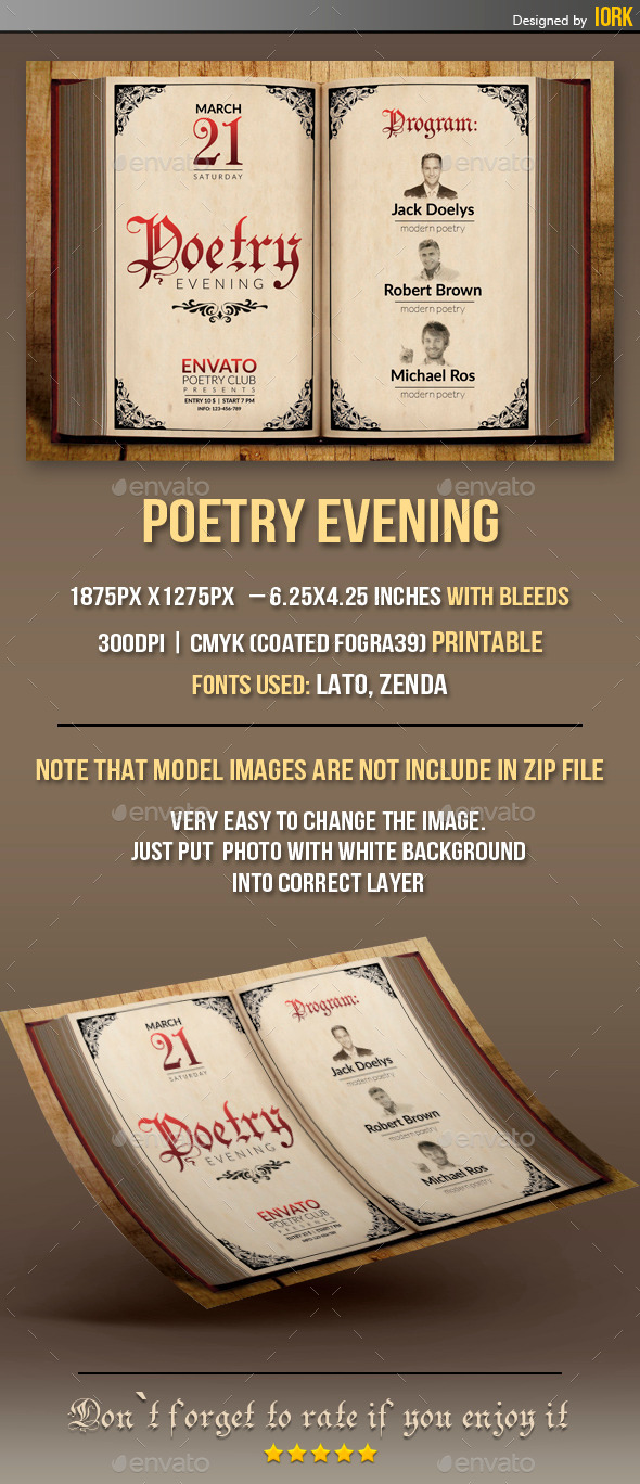 GraphicRiver Poetry Evening flyer 10914908