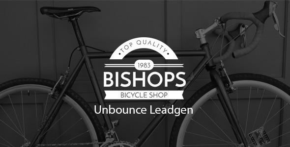 ThemeForest Bishop Bicycle Shop Unbounce Leadgen Landing Page 10861962