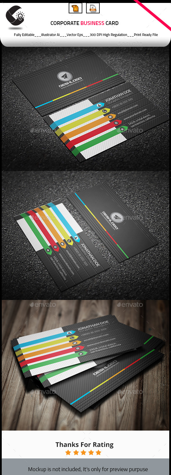 GraphicRiver Colorful Business Card 10915191