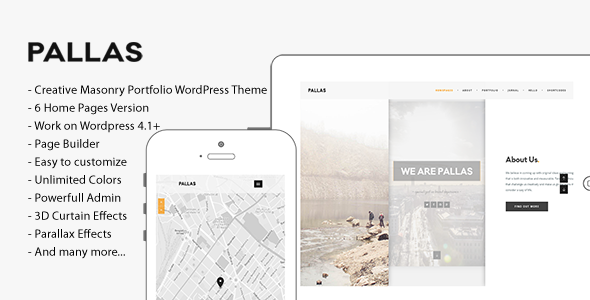 ThemeForest Pallas Creative Multi-Purpose WordPress Theme 10833842