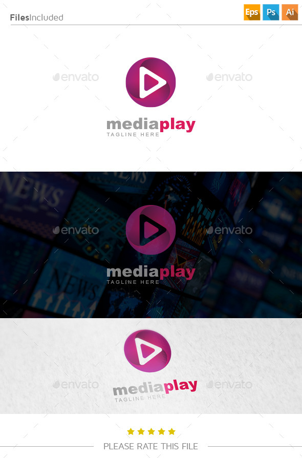 GraphicRiver Media Play Logo 10915258