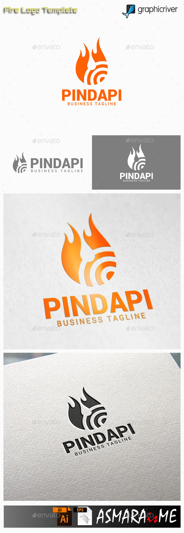 GraphicRiver Fire Logo 10915579