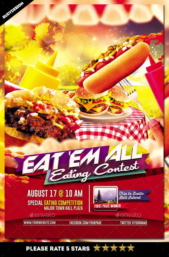 GraphicRiver Eating Contest Flyer Template 10848880