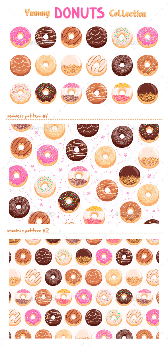 GraphicRiver Donuts Collection 10915663