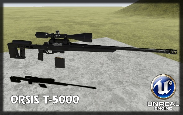 Sniper rifle - 3DOcean Item for Sale