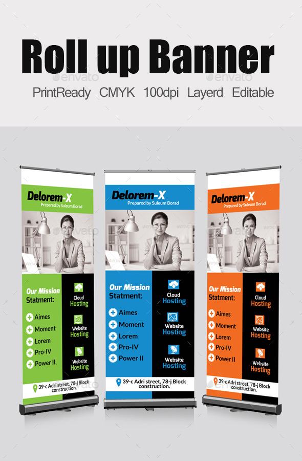GraphicRiver Business Roll Up Banners Template 10804528