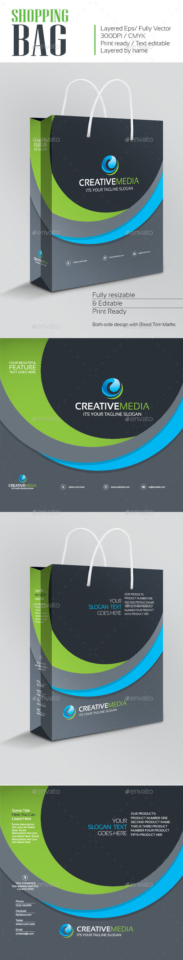 GraphicRiver CREATIVE MEDIA Shopping Bag 10915996