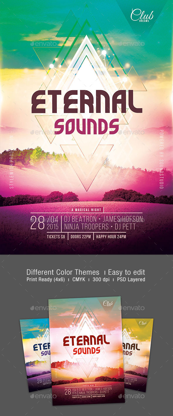 GraphicRiver Eternal Sounds Flyer 10915997