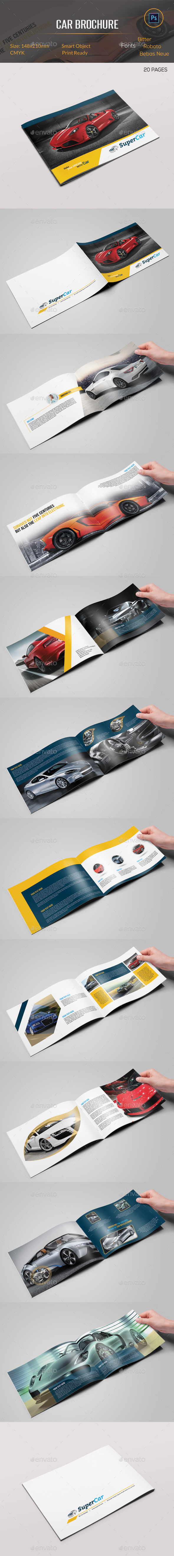 GraphicRiver Car Brochure 10916014