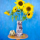 beautiful summer sunflowers in old ceramic vase - PhotoDune Item for Sale