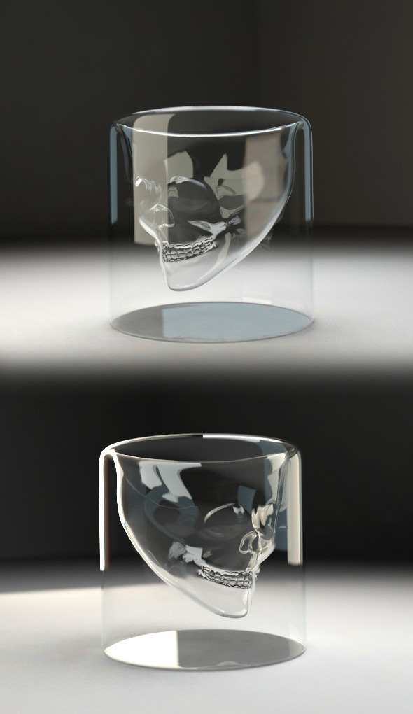 3DOcean Skull glass v1 10916264