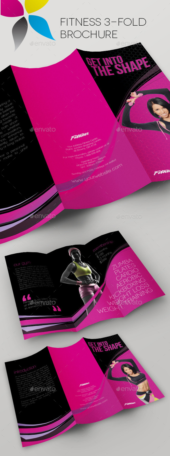GraphicRiver Fitness 3-Fold Brochure 10916302