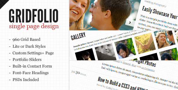 GridFolio WP - Grid Based Single Page Portfolio
